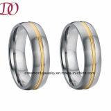 Anillo de acero inoxidable personalizados para hombres y mujeres de anillo de bisutería de calidad superior