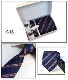 Relation étroite rayée à la mode de cadeau de soie/polyester (K18/19/20/21)