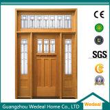 De houten Voordeur van de Vakman met Glas voor het Project van de Villa
