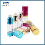 OEM cosmétique de verre de bouteille de pompe du gel 15ml rouge privé d'air
