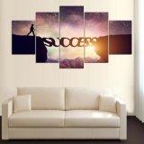 5 панель HD напечатала изображение искусствоа стены декора модульного искусствоа печати холстины «успеха» картины холстины самомоднейшее домашнее для живущий комнаты Mc-155