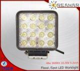 48W 3600LM Epistar Pi68 Luz LED de trabajo para el Jeep Truck Offroad