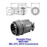 Fiche mâle droite, Ms3106f, Mil-Dtl-5015, Mil-C-5015, connecteur connecteur industriel militaire,