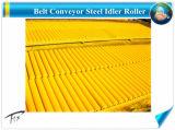 D89*355mm de couleur jaune Convoyeur à courroie Rouleau en acier