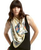 Dama moda mantones de seda bufanda de lana de algodón