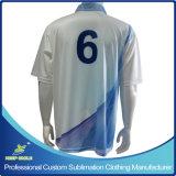 Chemise de polo de la meilleure qualité d'uniformes d'équipe de pleine sublimation faite sur commande avec le logo de poitrine