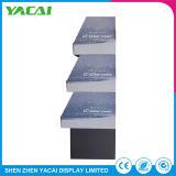 Contador de piso de papelão de papel reciclado suporte de ecrã para supermercados