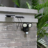 22 de la luz solar LED Sensor de movimiento PIR girar dos jefes de la pared del jardín exterior impermeable Spotlight