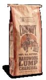 La barbacoa natural del saco de papel de Brown Kraft Briquets el saco