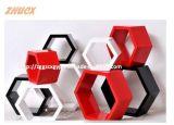 Hölzerner Wand-dekorativer Rahmen-hölzerne Gepäck-Träger-Form-Dekoration Cx-Wdf01