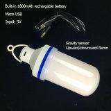 5V DC llama LED Bombilla con 1800mAh recargable, direcciones de doble modo llama