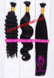100% virgem a granel de cabelo humano Remy, Extensão de cabelo, seda, Onda de corpo reto, Onda profunda, preço competitivo, Ordem personalizada disponível