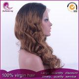 2t 브라운 자연적인 파 Malaysian Virgin 머리 정면 레이스 가발