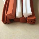 La extrusión Flexible cordón de caucho de silicona cuadrada
