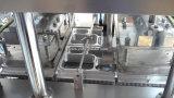 Tipo linear automático enchimento da cápsula do café e máquina da selagem