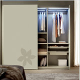 LED Light Clothes Rail를 가진 MDF Paint Door+Plywood Wardrobe