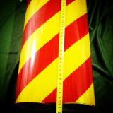 Double barre oblique couleur Stripe bâches réfléchissantes pour la sécurité du trafic