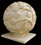 Im Freienlampen-Laterne des Garten-Sandstein geschnitzte Skulptur-Kugel-Audiolautsprecher-LED