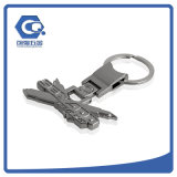 Письма металла ключевого кольца металла промотирования цепь изготовленный на заказ ключевая с логосом