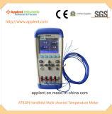 Termômetro de exibição de LCD digital com registrador de temperatura multicanal (AT4204)
