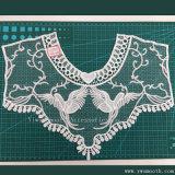 Het katoen haakt Toebehoren van het Kledingstuk van de Stof van de Kraag van het Kant van het Borduurwerk van de Halsband de Textiel