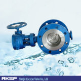 Manopola Type Full ss 316/316L Triple Offset Flanged Butterfly Valve