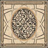Un sol en marbre beige Waterjet médaillon Tile