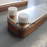 Intercambiador de calor de placas soldadas de cobre para la bomba de calor