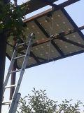 progetto dell'ibrido del laminatoio di vento orizzontale 2kw e della pila solare
