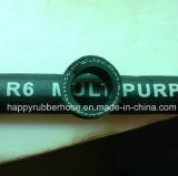 R6/sondern Faser geflochtenen Öl-Schlauch-hydraulischen Schlauch/Gummischlauch aus