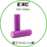 Authentic Lithium Ion 18650 Batterie 3.7V 2000mAh avec Delievery rapide