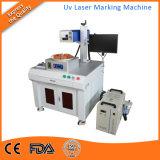 plásticos UV da gravura do laser da máquina da marcação do laser 5W
