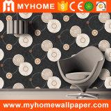 La mode Home Decor Papier peint en bois noir 3D