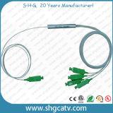 Optische PLC van de Vezel van het Type van Module van de Buis van het staal Mini1X4 Splitser met Schakelaar Sc/APC