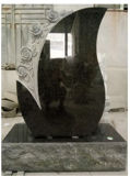 China-schwarze Finanzanzeige, Denkmal-Kreuz deckt Kerbsetheadstone-Europa Grabstein ab