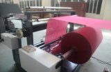 Saco de compras não tecidos fazendo a máquina com o manípulo on-line