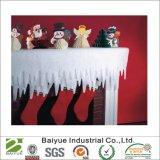 Polyester Glitter carámbanos borde marginal para la decoración de Navidad en stock