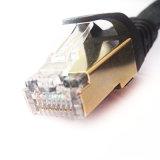 Cat7 de Beschermde RJ45 Kabel van het Flard van Ethernet met Goud Geplateerde Stop