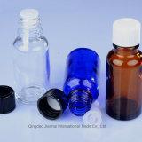 精油のための20mlによって着色される装飾的なガラス点滴器の容器