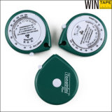 1,5 Metros Green Custom Logo Mini Body BMI Measuring Tape