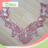 刺繍ポリエステルカラーレースのピンクカラー3D首のレース