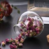 Borosilicat-Glas-Glas für Plätzchen-Tee macht Tee-Glas ein
