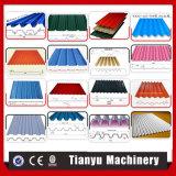 Kälte-verbiegende Stahlplatten-Dach-Panel-Rolle, die Maschinen-Preise bildet