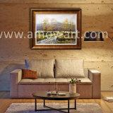 Bosque de abedules hechas a mano de pintura al óleo para la decoración del hogar