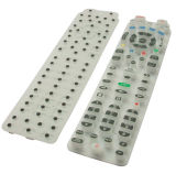 Stereo EquipmentのためのRemote Controllerの精密Silk Screen Printing PU Coated Silicone Rubber Keypad