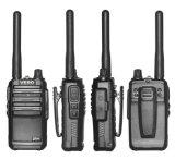 2W UHF Pocket Radio de Dos Vías 16CH Negro Walkie Talkie