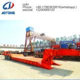 3 Exkavator-Transport-Vorderseite-Ladevorrichtungs-niedriger Bett-LKW-Schlussteil der Wellen-50t für Verkauf