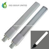 Luz de 180 bulbos del grado 8W G23 LED con la cubierta posterior y lechosa del aluminio de la PC