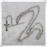 Rosario cattolico poco costoso di modo del rosario del grossista di plastica della stella (IO-cr058)