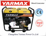 Groupe électrogène diesel simple refroidi par air de bâti ouvert de moteur diesel de cylindre de Yarmax Genset Ym6500e 4.5kVA 5.2kVA